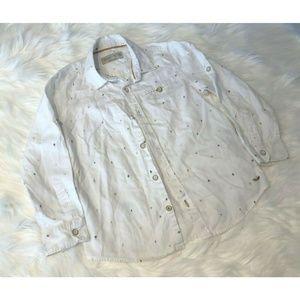 Zara Boys 100% Cotton Button Down Long Sleeve Shir